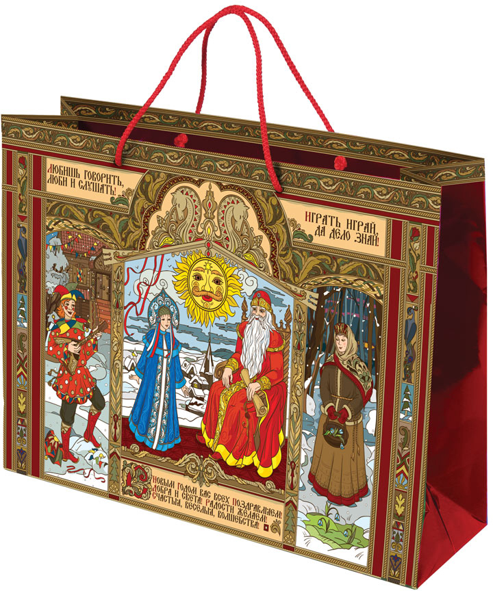 Пакет подарочный Правила Успеха Сказания о чудесах, 40 х 30 х 17 см4610009210414Подарочный пакет Правила Успеха Сказания о чудесах, изготовленный из плотной бумаги, станет незаменимым дополнением к выбранному подарку. Изделие украшено блестками. Дно укреплено плотным картоном, который позволяет сохранить форму пакета и исключает возможность деформации дна под тяжестью подарка. Для удобной переноски на пакете имеются две ручки из шнурков.Подарок, преподнесенный в оригинальной упаковке, всегда будет самым эффектным и запоминающимся. Окружите близких людей вниманием и заботой, вручив презент в нарядном, праздничном оформлении.