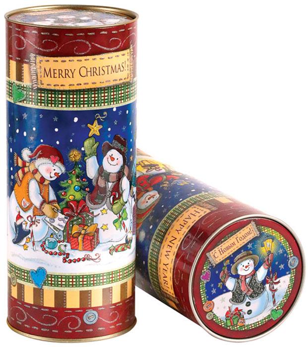 Тубус новогодний Правила Успеха Снеговички, цвет: мультиколор, 9 х 23 см4610009210629