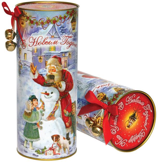 Тубус новогодний Снежные забавы 9*23 см4610009211473