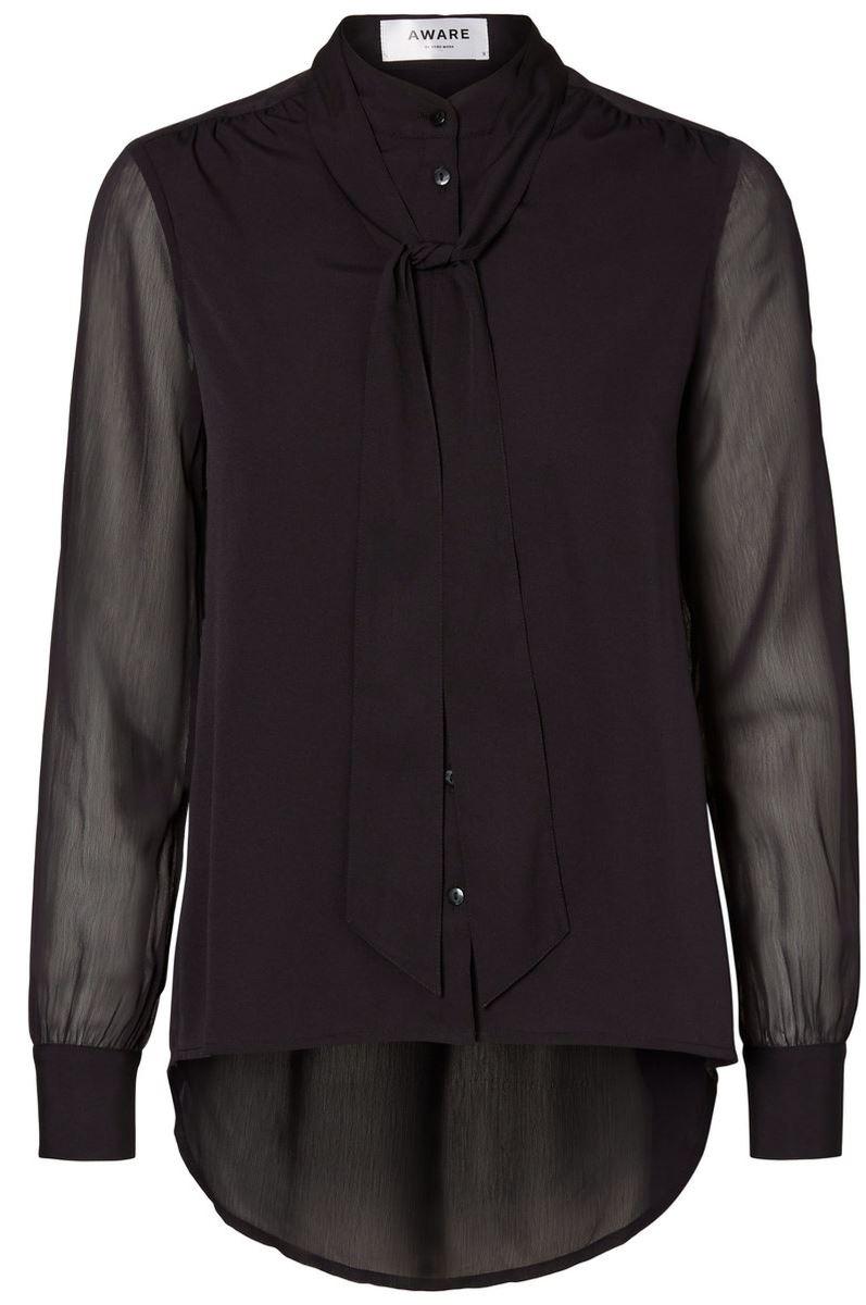 Блузка женская Vero Moda, цвет: черный. 10185411_Black. Размер XS (40/42) vero moda свитер с длинными рукавами