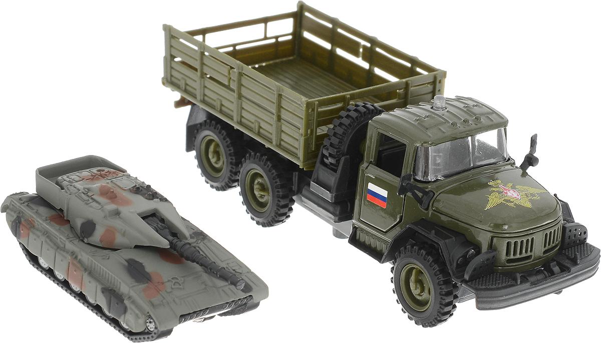 ТехноПарк Модель автомобиля ЗИЛ 131 с танком игрушка технопарк зил 130 ct11 309 1