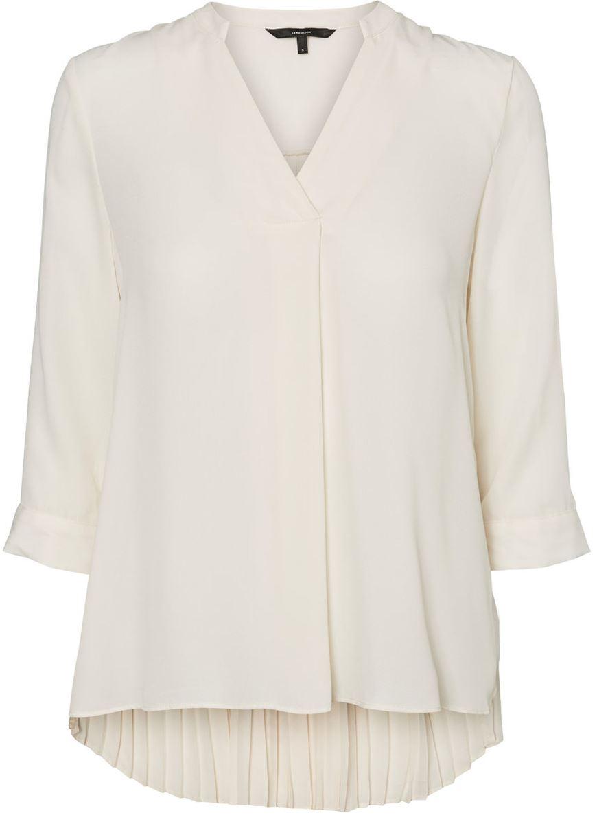 Блузка женская Vero Moda, цвет: бежевый. 10185885_Eggnog. Размер XS (40/42) блузка женская vero moda цвет черный 10186375 black размер xs 40 42