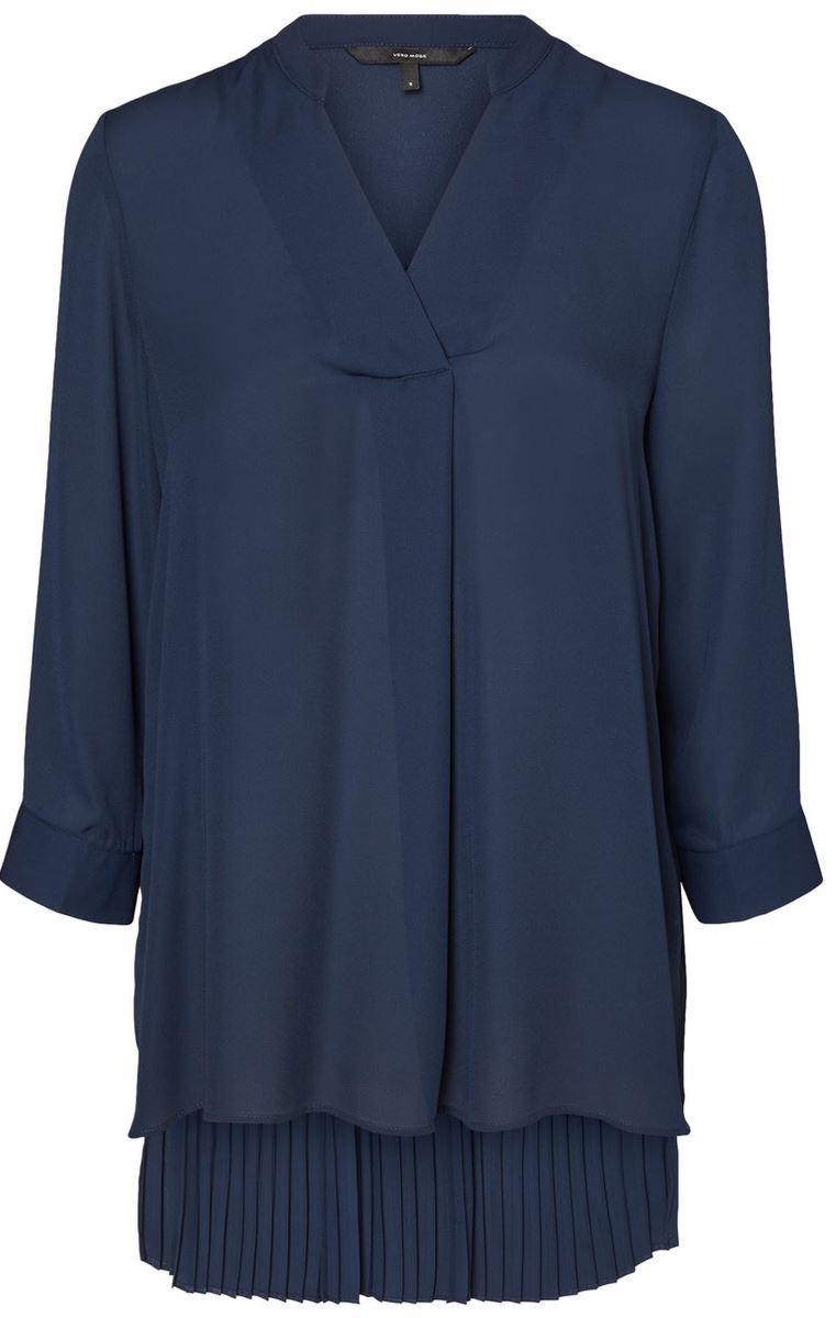 Блузка женская Vero Moda, цвет: синий. 10185885_Navy Blazer. Размер S (42/44) vero moda свитер с длинными рукавами