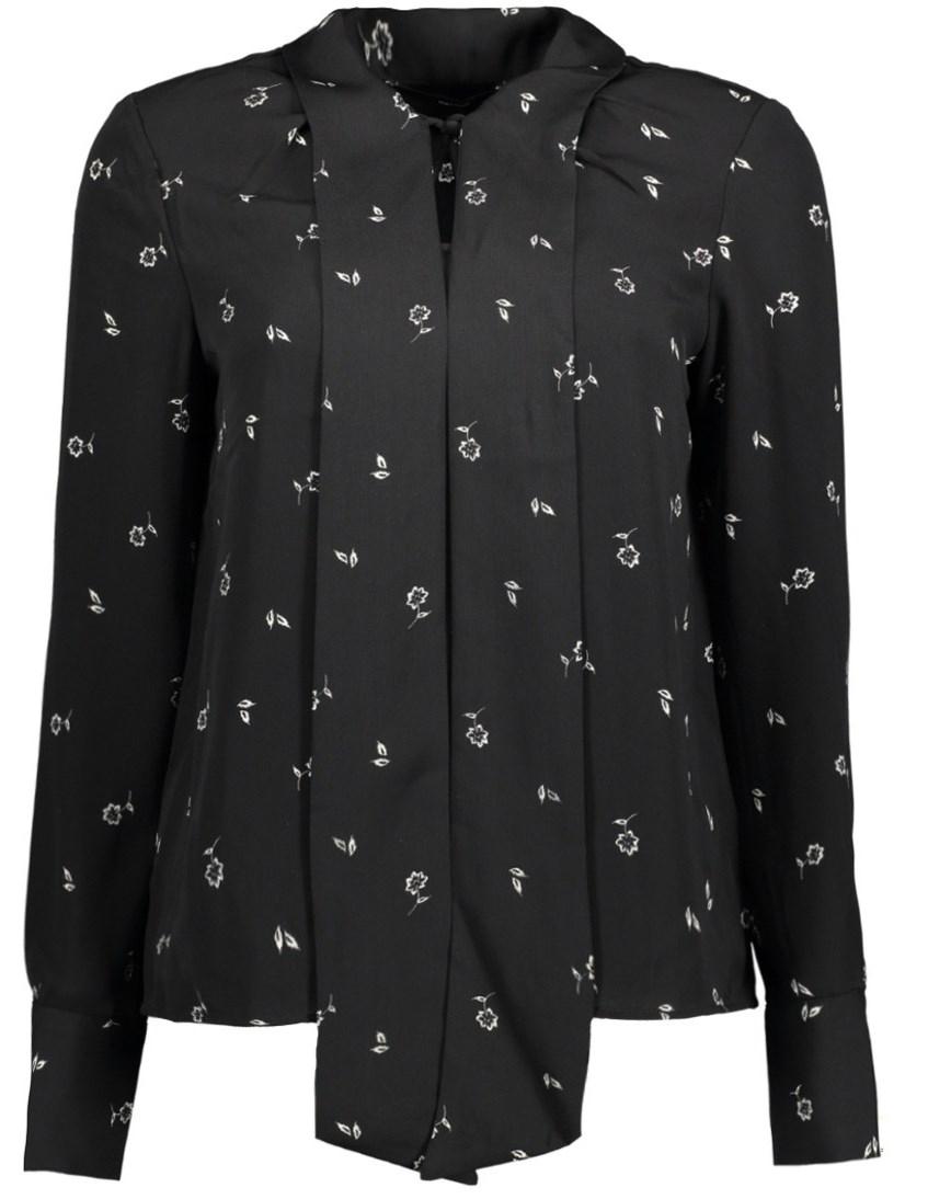 Блузка женская Vero Moda, цвет: черный. 10186375_Black. Размер XS (40/42) блузка женская vero moda цвет черный 10187780 black размер 42 44