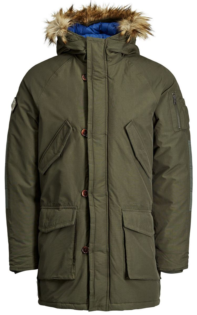 Куртка муж Jack & Jones, цвет: зеленый. 12123692_Forest Night. Размер M (46/48)12123692_Forest Night