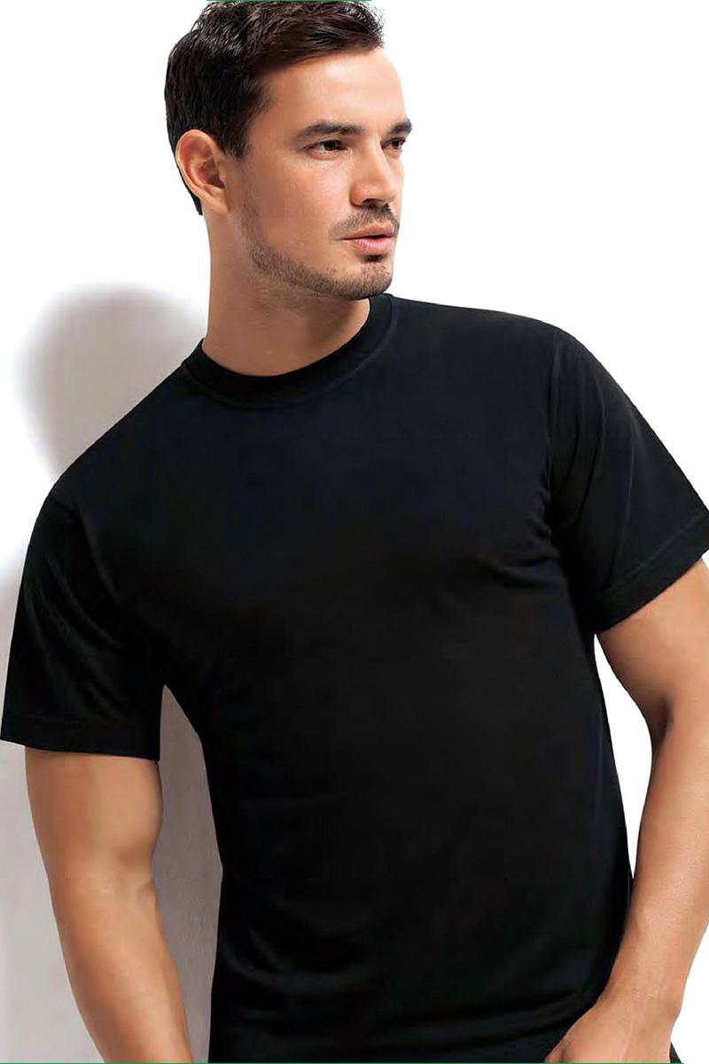 Футболка мужская Dorea, цвет: черный. c0e1501-0026 / 1011. Размер M (46/48)c0e1501-0026 / 1011Футболок в мужском шкафу никогда не бывает много. Это основа любого мужского гардероба! Отличная модель от Dorea выполнена из высококачественного материала и идеально подойдет как для занятий спортом, так и для создания неформального повседневного образа.