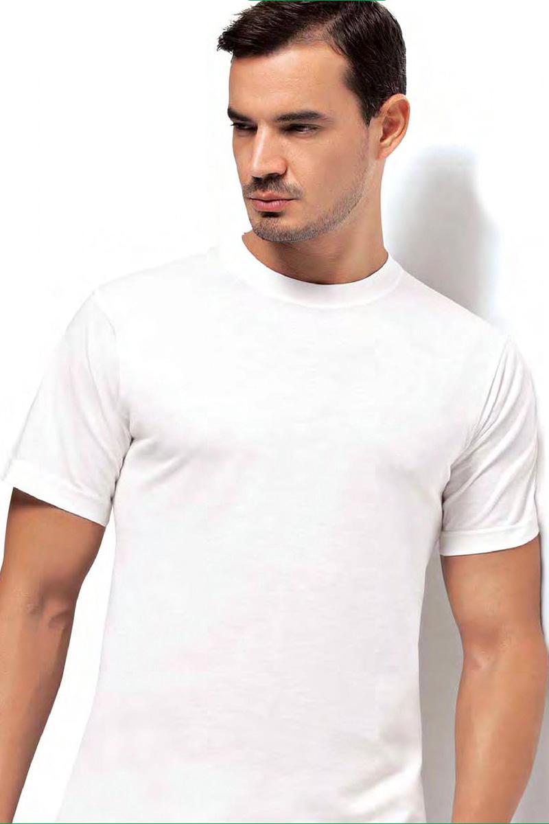 Футболка мужская Dorea, цвет: белый. c0e1501-0025 / 1003. Размер M (46/48)c0e1501-0025 / 1003Футболок в мужском шкафу никогда не бывает много. Это основа любого мужского гардероба! Отличная модель от Dorea выполнена из высококачественного материала и идеально подойдет как для занятий спортом, так и для создания неформального повседневного образа.