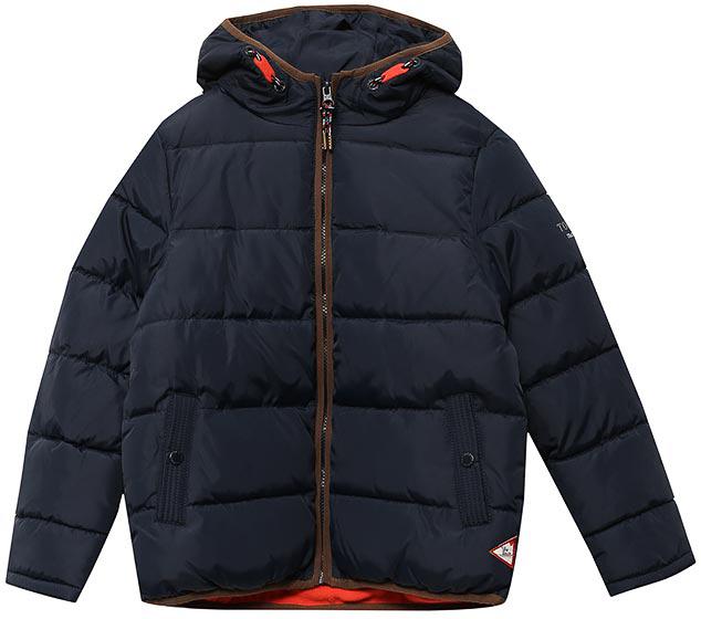 Куртка для мальчика Tom Tailor, цвет: синий. 3533463.00.30_6593. Размер 1523533463.00.30_6593Теплая куртка для мальчика от Tom Tailor выполнена из высококачественного материала. Модель с капюшоном и длинными рукавами застегивается на молнию. По бокам куртка дополнена втачными карманами.