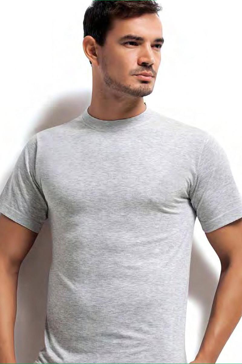 Футболка мужская Dorea, цвет: серый. c0e1501-0015 / 1025. Размер S (44/46)c0e1501-0015 / 1025Футболок в мужском шкафу никогда не бывает много. Это основа любого мужского гардероба! Модель от Dorea выполнена из высококачественного материала и идеально подойдет как для занятий спортом, так и для создания неформального повседневного образа.
