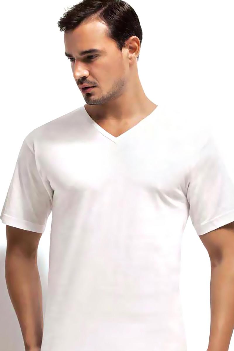 Футболка мужская Dorea, цвет: белый. c0e1501-0011 / 1004. Размер XXL (52/54)c0e1501-0011 / 1004Футболок в мужском шкафу никогда не бывает много. Это основа любого мужского гардероба! Модель с V-образным вырезом выполнена из высококачественного материала и идеально подойдет как для занятий спортом, так и для создания неформального повседневного образа.