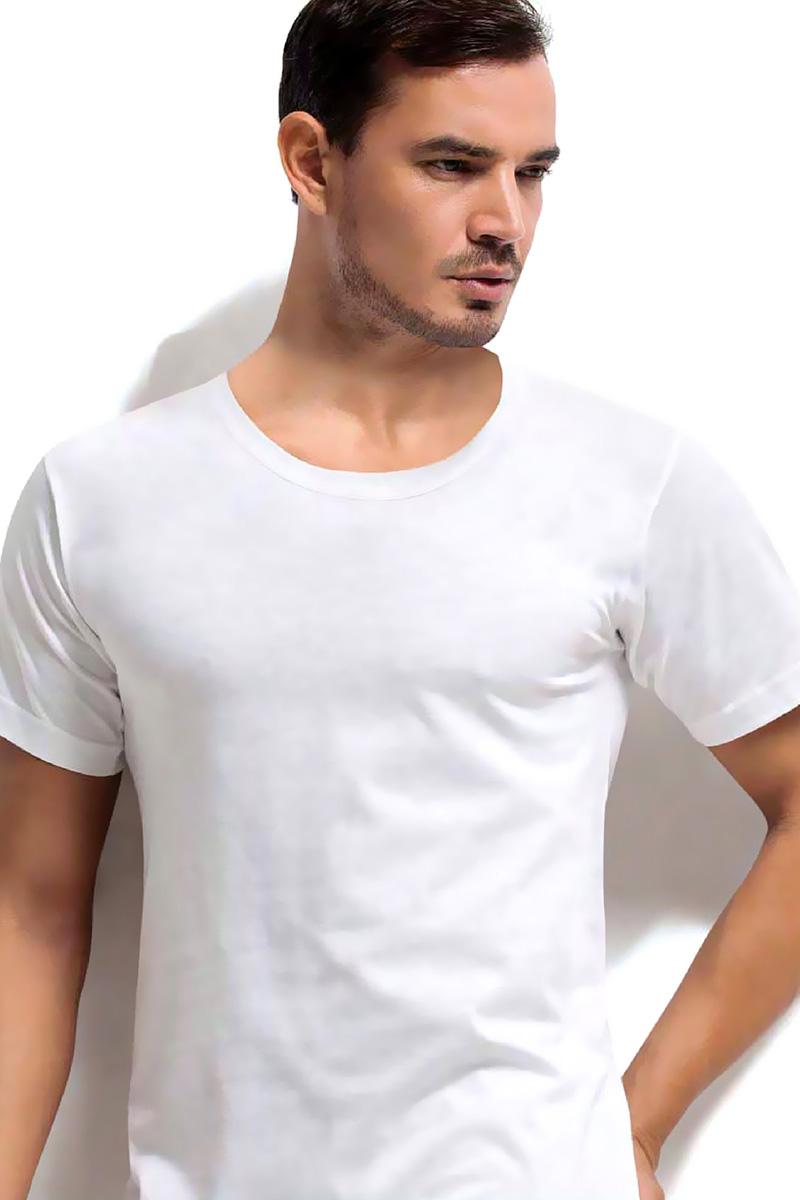 Футболка мужская Dorea, цвет: белый. c0e1501-0010 / 1002. Размер XL (50/52)c0e1501-0010 / 1002Футболок в мужском шкафу никогда не бывает много. Это основа любого мужского гардероба! Футболка от Dorea с короткими рукавами и глубоким круглым вырезом горловины выполнена из высококачественного материала и прекрасно впишется как в спортивный, так и в повседневный ансамбль.