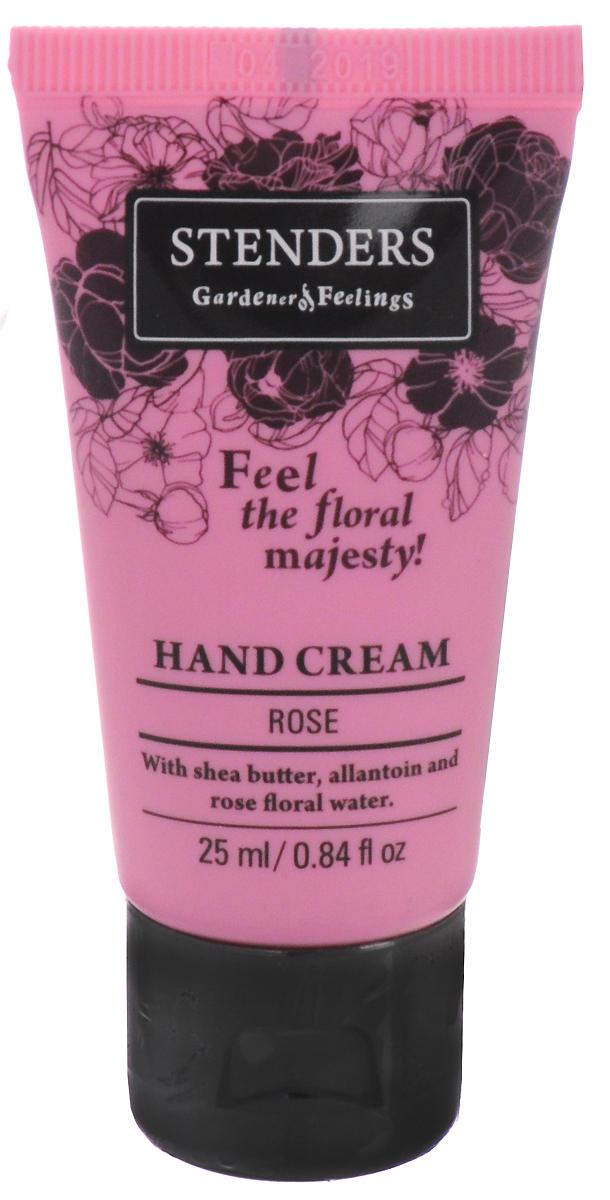 Stenders Крем для рук Роза, 25 млCHRЗащитный крем для ежедневной заботы о коже ваших рук. Содержит натуральное твердое масло ши, которое обильно питает кожу, а аллантоин и розовая цветочная вода делают руки бархатисто-нежными и гладкими. Крем легко впитывается в кожу, придавая ей пленительный цветочный аромат. Изо дня в день крем будет защищать ваши руки, делая кожу гладкой и бархатистой. Он сформирует защитный слой, удерживающий влагу, заботясь таким образом о красоте и эластичности кожи.Цветочная вода является ценным побочным продуктом процесса дистилляции эфирных масел. Каждая капля цветочной воды содержит все свойства эфирного масла растения. Розовая цветочная вода – самая излюбленная среди всех видов цветочной воды, благодаря ее королевскому аромату и ценным свойствам. Розовая вода балансирует выработку себума, поэтому она подходит как для сухой, так и для жирной кожи. Масло ши обладает свойством быстро впитываться в кожу, длительное время насыщая и защищая ее, делая кожу шелковисто-гладкой.