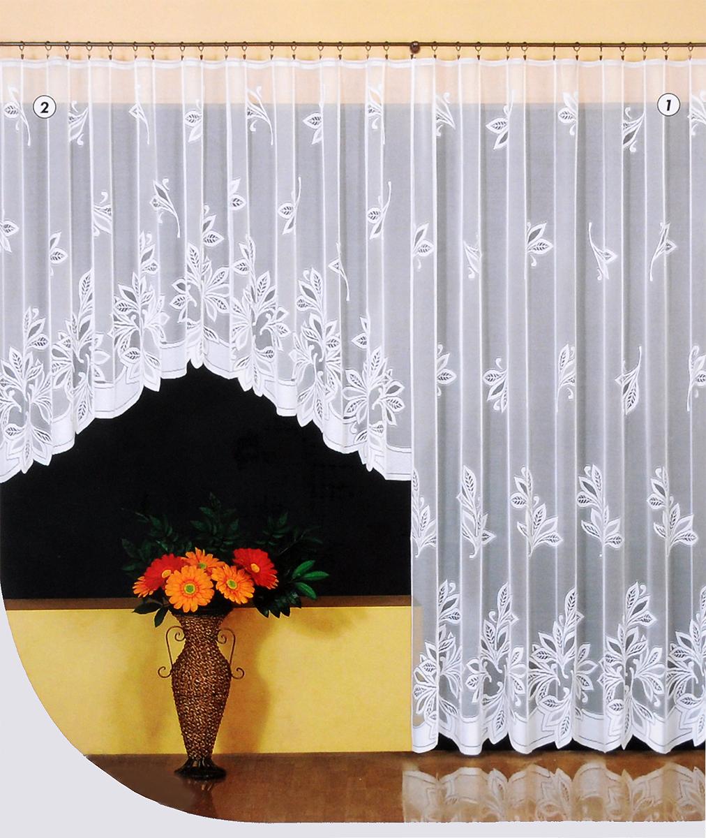 """Жаккардовая гардина """"Wisan"""", выполненная из легкого полупрозрачного полиэстера, станет великолепным украшением окна в спальне или гостиной. Отлично подходит по размеру под балконный блок на прилегающее окно. Изделие дополнено красивым рисунком по всей поверхности полотна. Качественный материал, тонкое плетение и оригинальный дизайн привлекут к себе внимание и позволят гардине органично вписаться в интерьер помещения. Гардина оснащена шторной лентой под зажимы для крепления на карниз."""