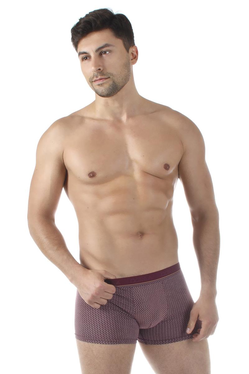 Трусы-боксеры мужские Dorea, цвет: бордовый. 5005-1. Размер M (46/48) все цены