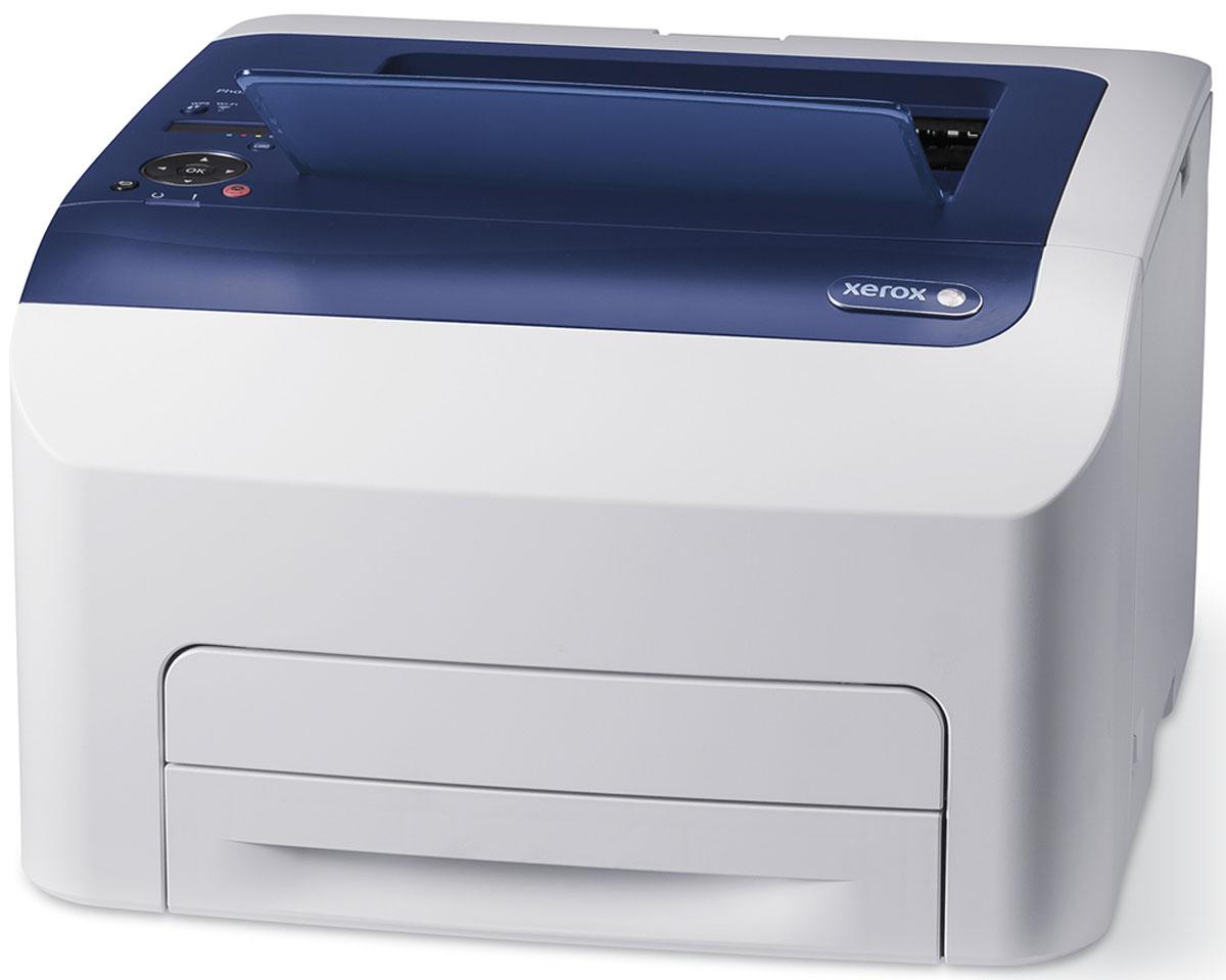 Xerox Phaser 6022NI принтер6022V_NIXerox Phaser 6022NI – это персональный сетевой цветной принтер, с однопроходной светодиодной технологией печати, со скоростью печати до 18/18 стр/мин (цв/моно), встроенным WI-FI в стандартной комплектации, поддержкой печати с мобильных устройств Apple AirPrint, Xerox PrintBack, процессором 525 МГц и памятью 256 Мб Прибор поддерживает языки описания страниц: PostScript 3; PCL 5c, 6. Одним из главных требований персонального пользователя является компактность устройства, качество цветного отпечатка и его внешний вид. Принтер Xerox Phaser 6022NI наиболее полно отвечают всем этим требованиям. По размерам аппарат является одним из самых компактных на рынке и обладает малой занимаемой площадью. Кроме того, пониженный уровень шума позволяет комфортно использовать принтер дома и в офисе. Цветной принтер Xerox Phaser 6022NI объединяет наиболее привлекательные потребительские качества, полученные в результате статистических опросов об удовлетворенности пользователей цветными устройствами: Печать с мобильных устройств - Apple AirPrint и Xerox PrintBack, простая процедура инсталляции аппаратов и подключения к сети. Упрощенное использование с возможностью сканирования на внешний носитель информации.При печати многостраничного документа можно напечатать несколько страниц на одном листе бумаги. На одной стороне листа можно разместить одну, две, четыре, шесть, девять или шестнадцать страниц.Струйный или лазерный принтер: какой лучше? Статья OZON Гид