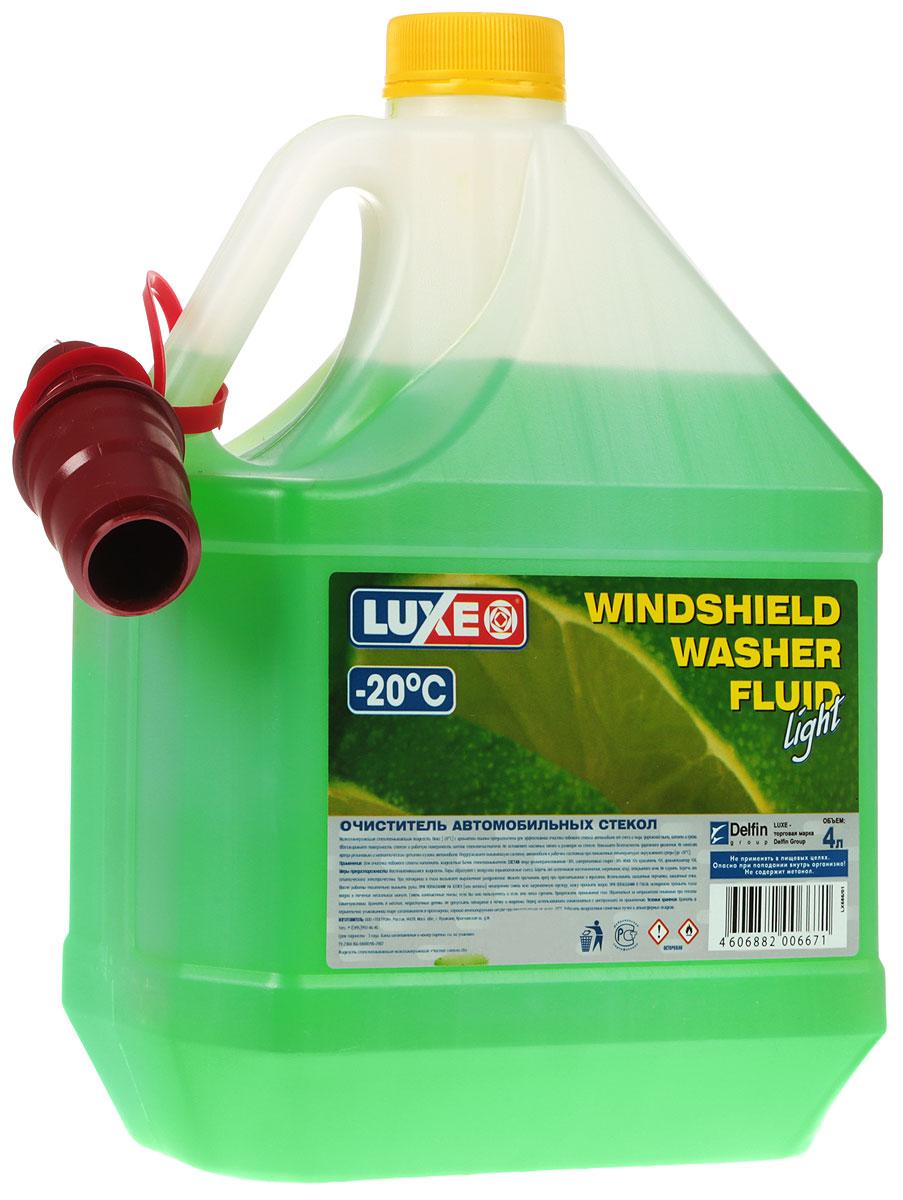 Омыватель стекол LUXE, -20°С, 4 л686Низкозамерзающий омыватель стекол LUXE с ароматом лимона предназначен для эффективной очистки лобового стекла автомобиля от снега и льда, дорожной пыли, копоти и грязи. Обезжиривает поверхность стекол и рабочую поверхность щеток стеклоочистителя. Не оставляет масляных пятен и разводов на стекле. Повышает безопасность дорожного движения. Не наносит вреда резиновым и металлическим деталям кузова автомобиля. Поддерживает омывающую систему автомобиля в рабочем состоянии при пониженных температурах окружающей среды (до -20°С). Чистящая способность по стеклу: не менее: 85%. Температура кристаллизации: не выше -20°С.