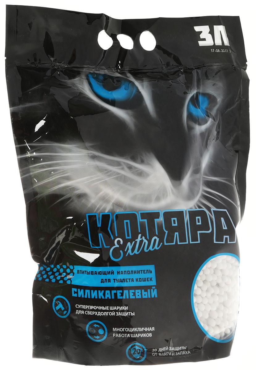 Наполнитель для кошачьего туалета Котяра  Extra , силикагелевый, 3 л - Наполнители и туалетные принадлежности