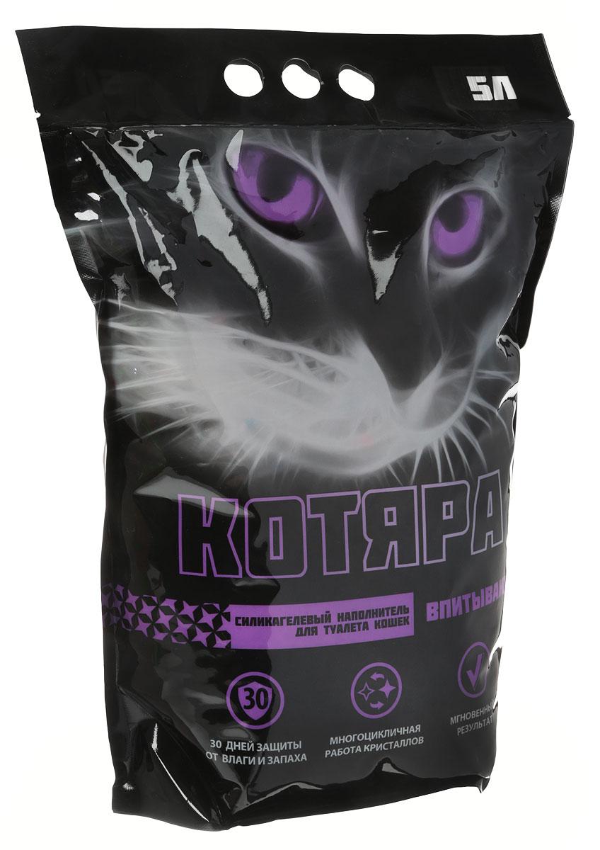 Наполнитель для кошачьего туалета  Котяра , силикагелевый, 5 л - Наполнители и туалетные принадлежности