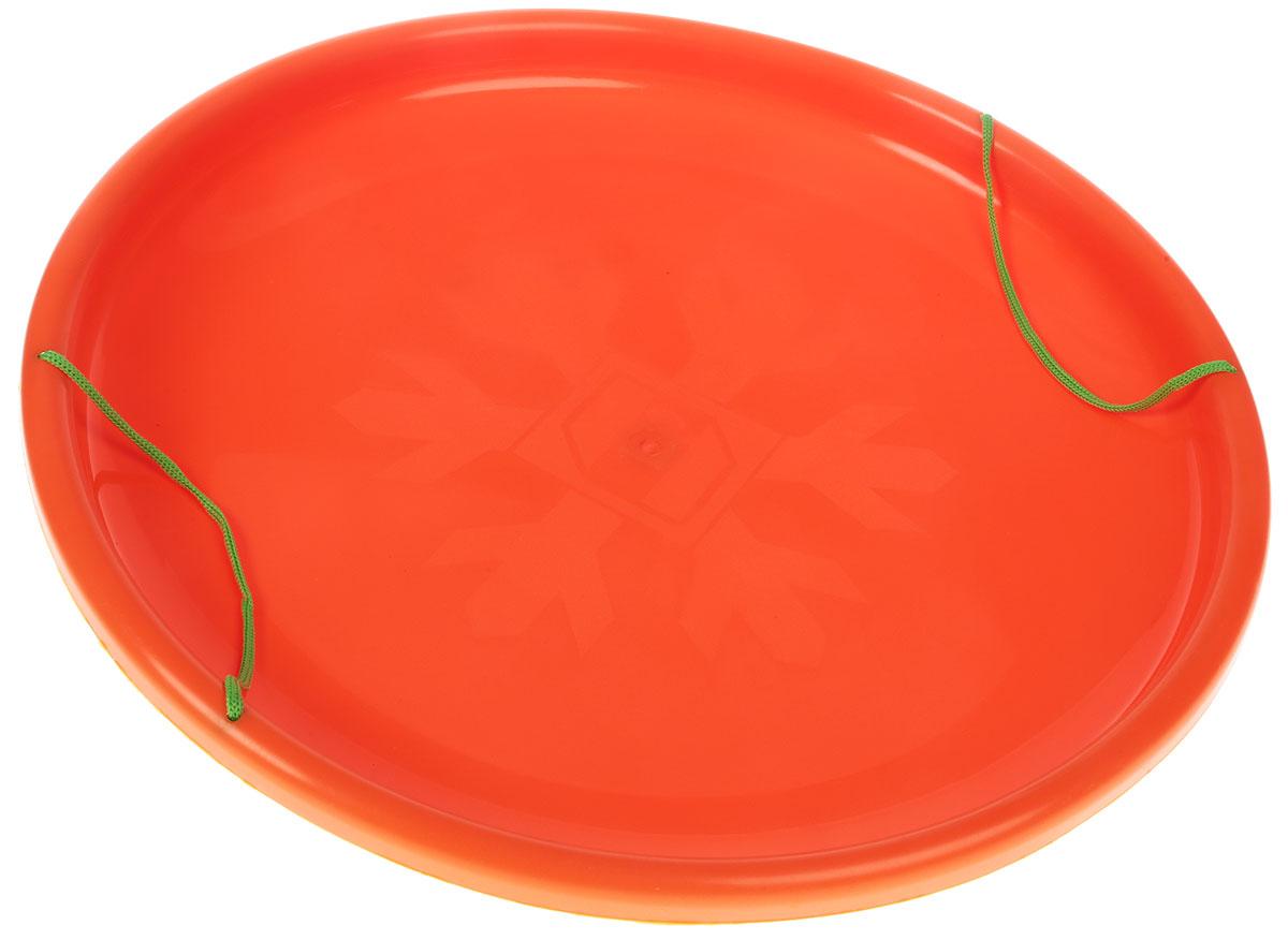 Ледянка Престиж Экстрим, с ручками, цвет: оранжевый, зеленый, диаметр 54 см336918Особенности: для снежных гор Размеры: 54 см Материал: пластик