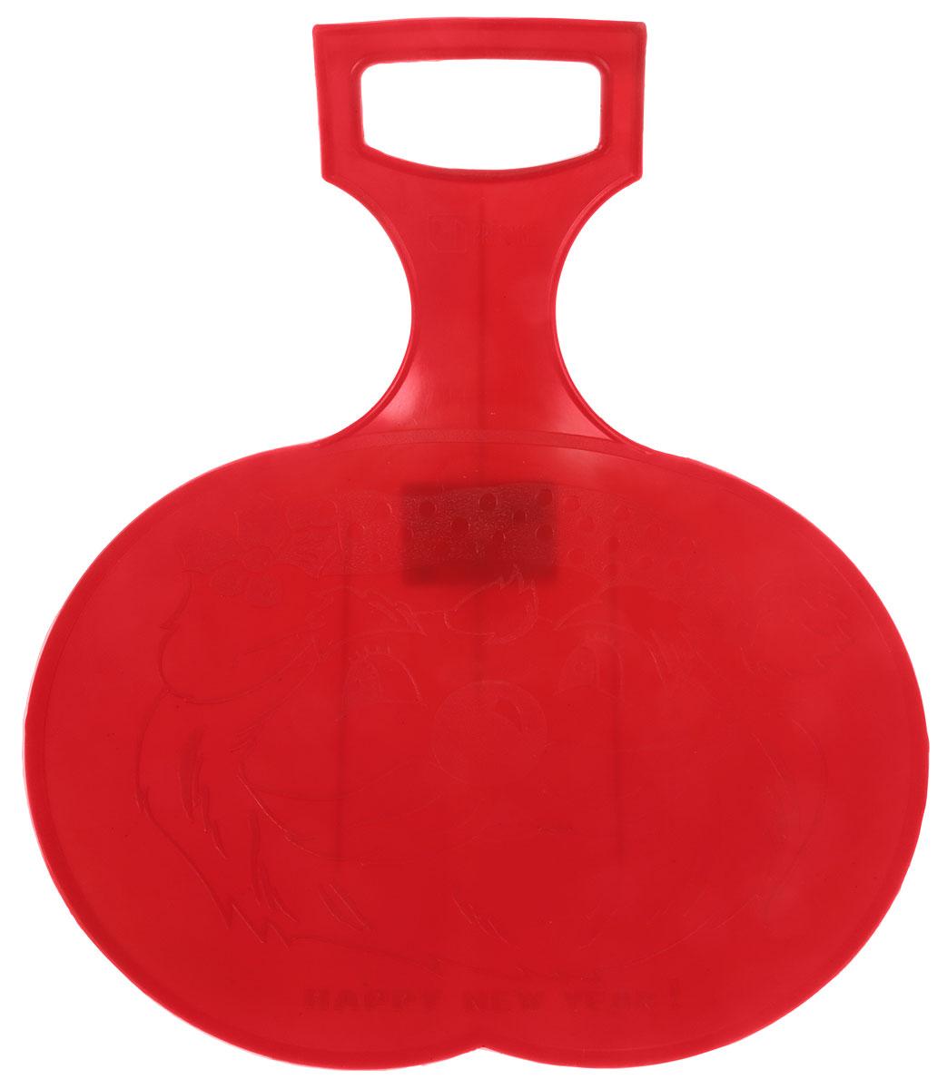 "Санки-ледянки ""Престиж"", цвет: красный, 38 х 32 см"