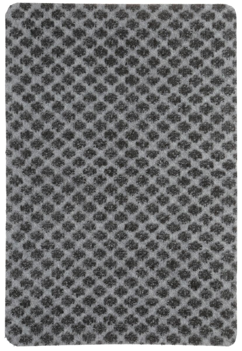 Коврик придверный Vortex Siesta, цвет: черный, серый, 40 х 60 см. 2238921480Придверный коврик Vortex Siesta выполнен из 100% полиэстера и предназначен для защиты от влаги и грязи. Коврик очищает обувь от грязи и задерживает влагу при входе в помещение. Коврик без подложки.