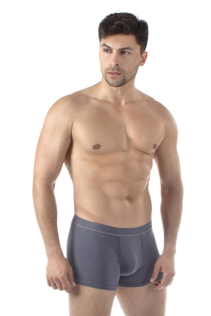 Трусы-боксеры мужские Dorea, цвет: серый. 5004. Размер M (46/48)5004Однотонные мужские трусы-боксеры от Dorea в подарочной упаковке – отличное решение для тех, кто ценит чувство комфорта! Модель выполнена с применением высококачественного материала модал, обладающего высокими гигиеническими показателями. Продуманный дизайн обеспечивает хорошую посадку на фигуре и чрезвычайный комфорт при носке.