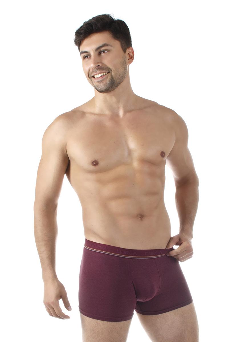 Трусы-боксеры мужские Dorea, цвет: бордовый. 5004. Размер M (46/48)5004Однотонные мужские трусы-боксеры от Dorea в подарочной упаковке – отличное решение для тех, кто ценит чувство комфорта! Модель выполнена с применением высококачественного материала модал, обладающего высокими гигиеническими показателями. Продуманный дизайн обеспечивает хорошую посадку на фигуре и чрезвычайный комфорт при носке.