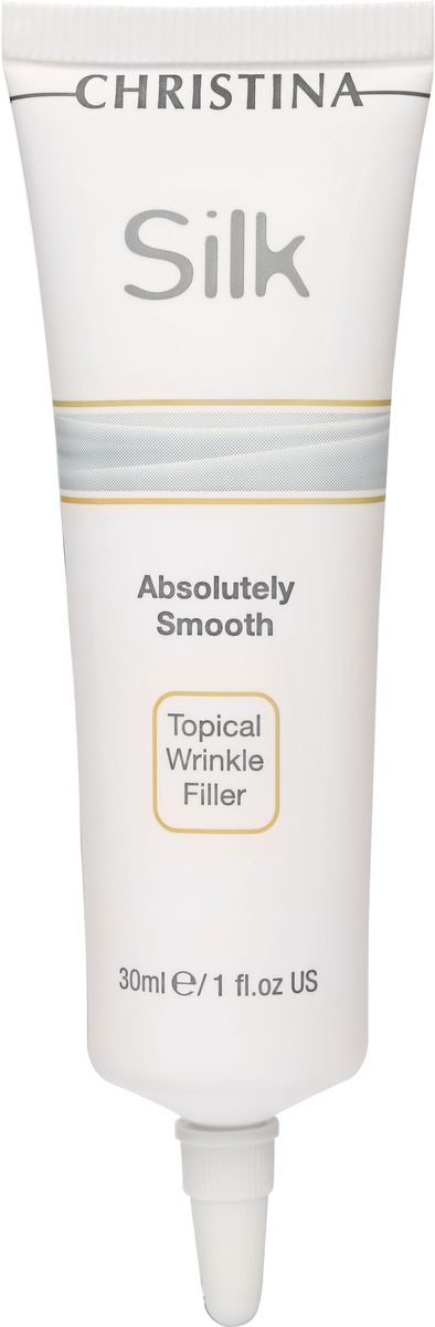 Christina Silk Absolutely Smooth Topical Wrinkle Filler - Сыворотка для местного заполнения морщин 30 млCHR439Нежная сыворотка Absolutely Smooth — это безопасная и эффективная альтернатива инъекционным процедурам для разглаживания морщин. При регулярном использовании сыворотки кожа Ваших клиентов будет выглядеть безукоризненно гладкой и нежной как шелк.Результат: Дает немедленный и видимый результат. Заполняет и скрывает мелкие мимические линии и морщинки. Предупреждает появление морщин. Сохраняет естественную индивидуальность лица.Объем: 30 мл.