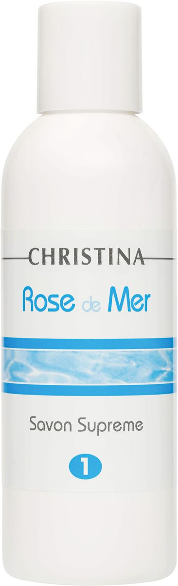 Christina Rose de Mer 1 Savon Suprem - Дезинфицирующее мыло для пилинга Роз де Мер 120 мл 63 rose de mai
