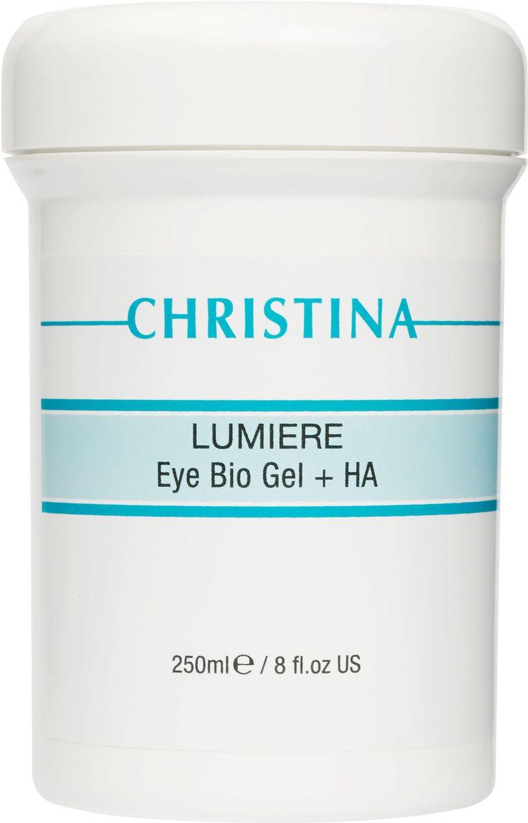 Christina Eye and Neck Bio Gel + HA - Lumiere - Гель для кожи век и шеи с комплексом дерма-витаминов и гиалуроновой кислотой 250 мл christina осветляющий крем для кожи вокруг глаз и шеи bio phyto enlightening eye and neck cream шаг 9 75 мл
