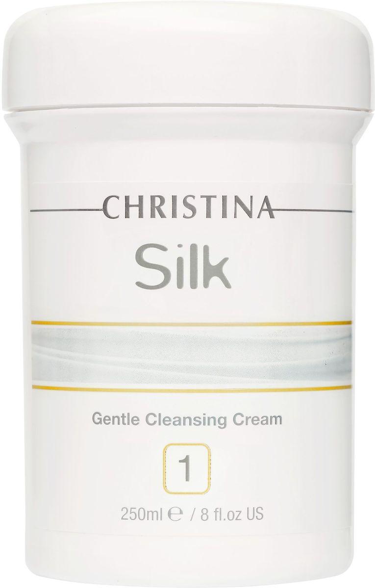 Christina Silk Gentle Cleansing Cream - Нежный крем для очищения кожи 250 млSILK1Нежный крем для очищения кожи Christina Silk Gentle Cleansing Cream это мягкое, неионное и амфотерическое кремообразное мыло увлажняет кожу, удаляет загрязнения, не раздражая и не пересушивая ее. Может также использоваться для снятия макияжа с области глаз. После применения препарата кожа выглядит очищенной, свежей и готовой к нанесению Soothing Exfoliator.Объём: 250 мл