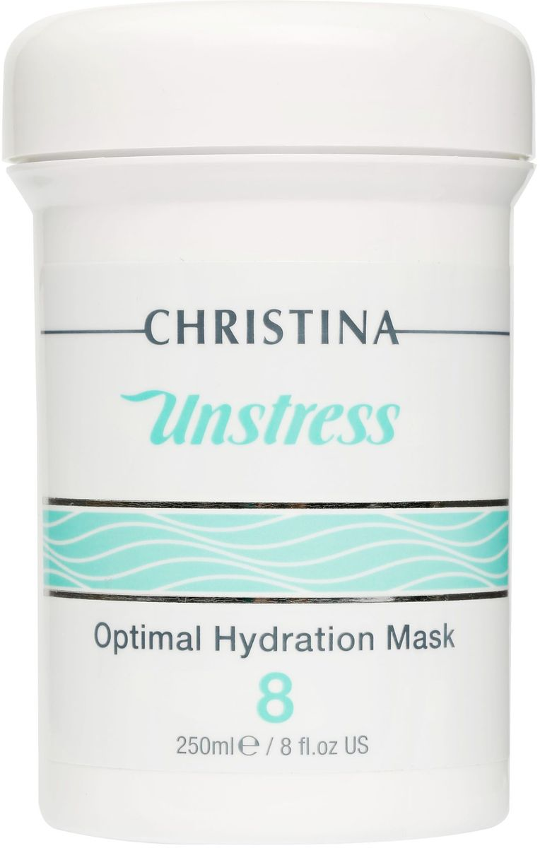 Christina Unstress Optimal Hydration Mask - Оптимальная увлажняющая маска 250 мл christina азуленовая маска красоты для чувствительной кожи sea herbal beauty mask azulene 60 мл
