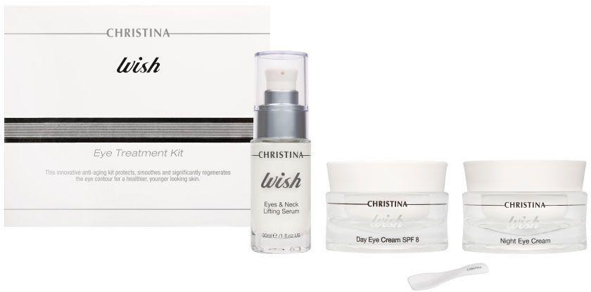 Christina Wish Eye Treatment Kit - Набор для ухода за кожей век 3 х 30 мл christina крем для улучшения цвета лица wish radiance enhancing cream 50 мл