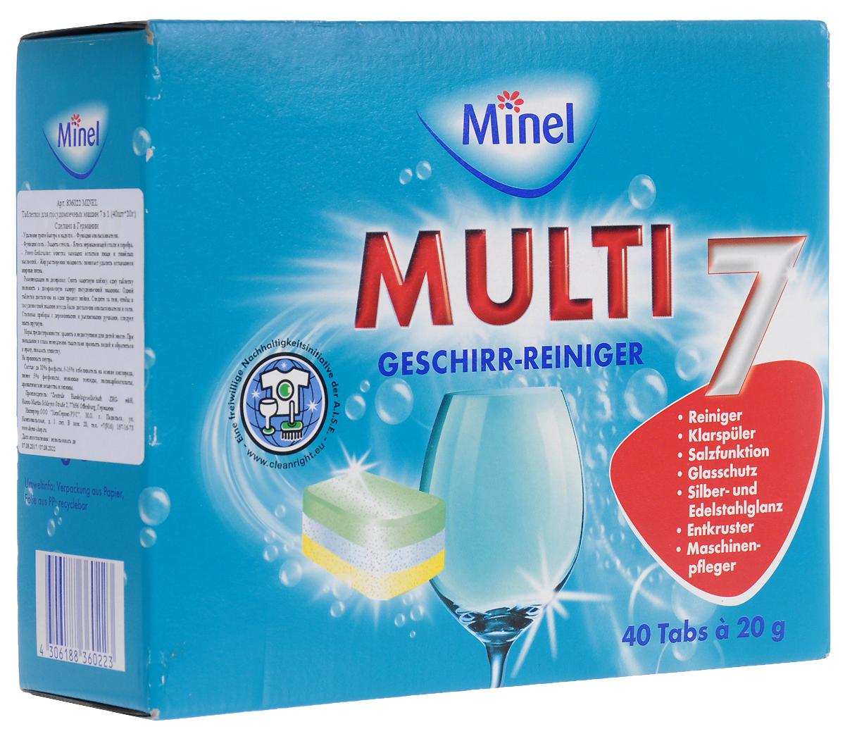 """Чистящее средство для посудомоечной машины Minel """"Total"""", в таблетках, 40 шт"""