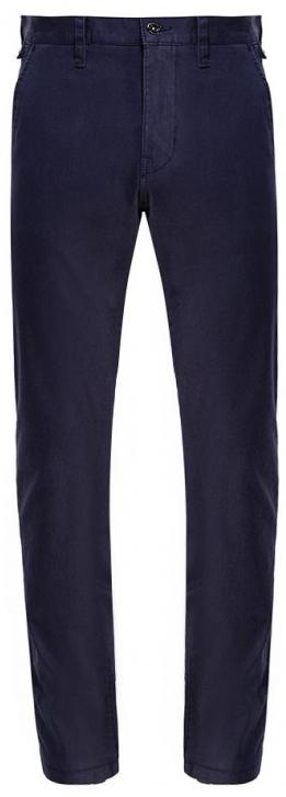 Брюки муж Mustang Denver Chino, цвет: темно-синий. 3102-6715-554_5226. Размер 31-34 (46/48-34)3102-6715-554_5226Мужские брюки слегка зауженного кроя и средней посадки изготовлены из хлопка с эластаном. Застегиваются брюки на пуговицу в поясе и ширинку на застежке-молнии, имеются шлевки для ремня. Модель оформлена двумя карманами по бокам и двумя прорезными карманами сзади.