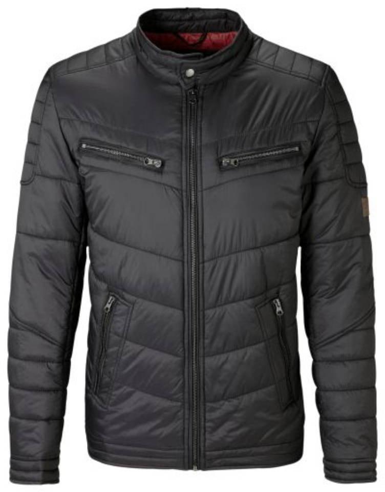 Куртка мужская Mustang Padded Biker Jacket, цвет: черный. 3307-6666-440_4142. Размер M (48)3307-6666-440_4142