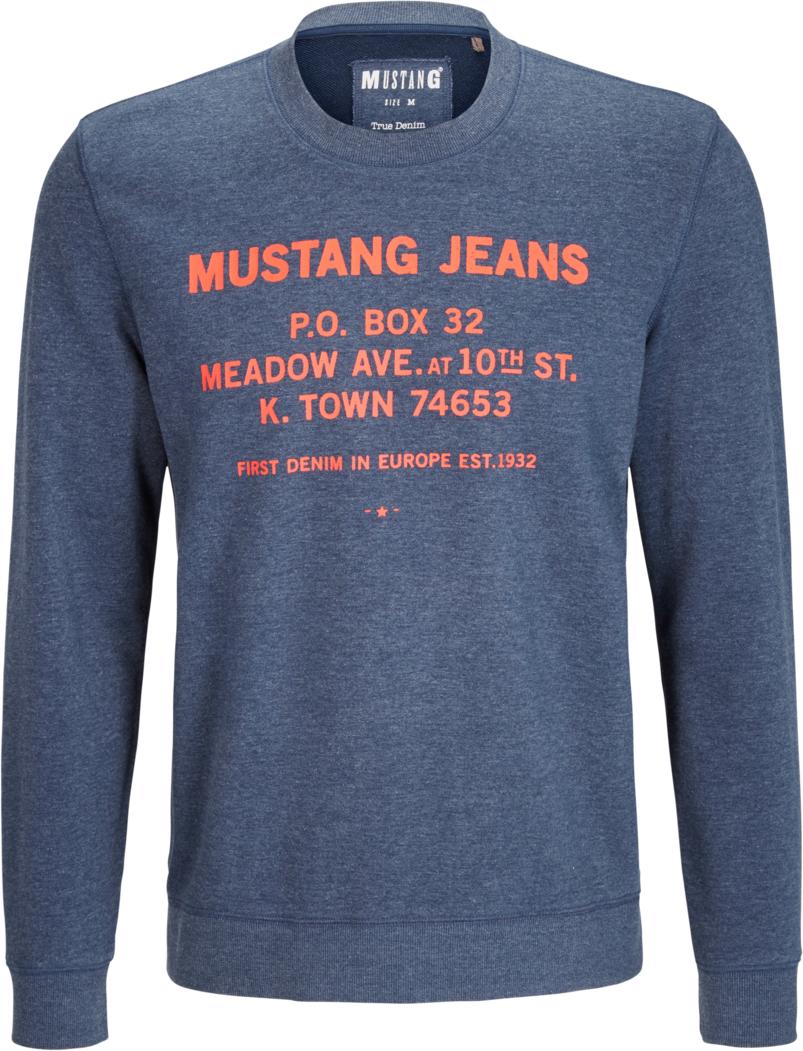 Свитер муж Mustang Mustang Sweater, цвет: темно-синий. 7014-1636-534_5230. Размер XL (52)7014-1636-534_5230