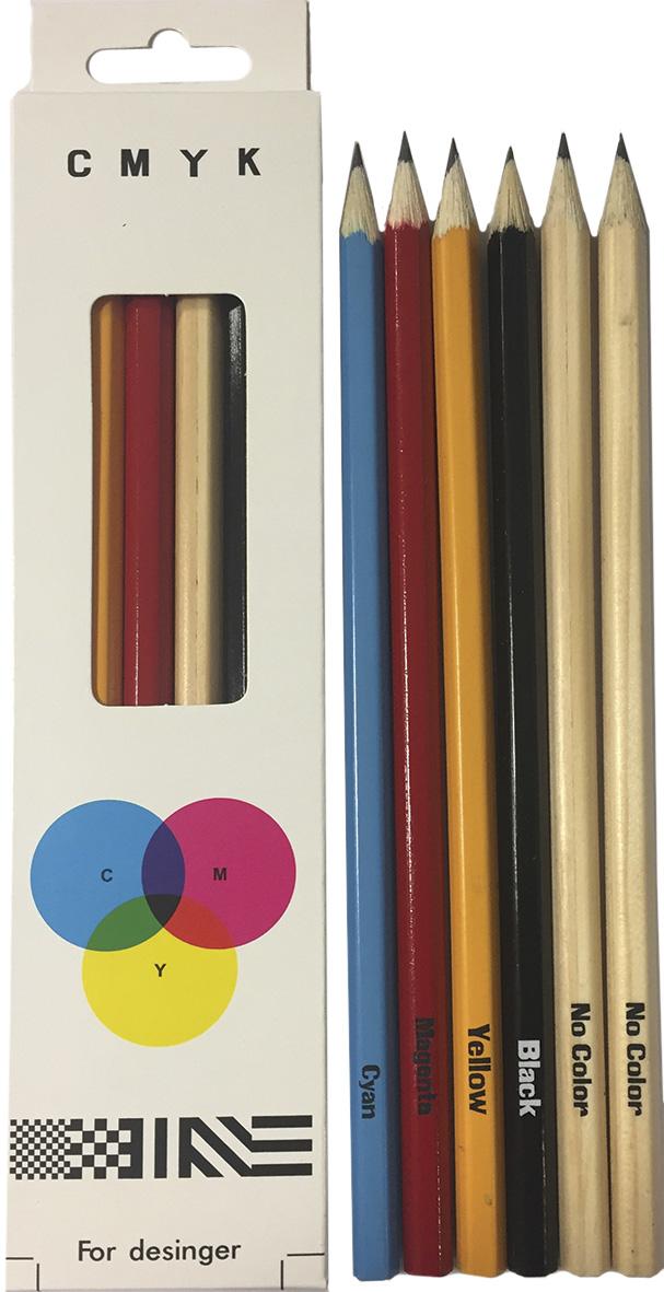 Сибирская карандашная фабрика Набор чернографитных карандашей Сибирский Кедр C.M.Y.K. 6 шт сибирская карандашная фабрика набор чернографитных карандашей сибирский кедр босс 6 шт