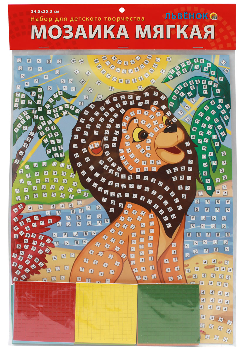 Рыжий Кот Мозаика мягкая Львенок мозаики totomosaic мозаика львенок