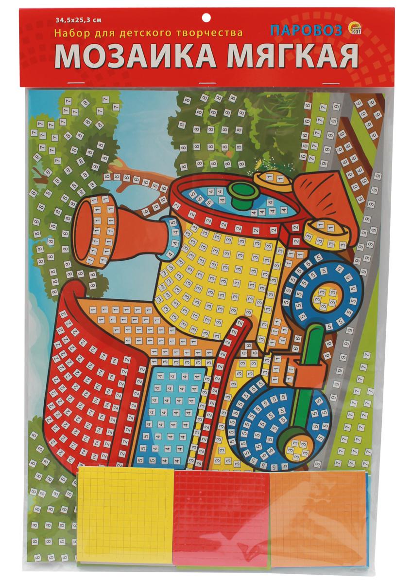 Рыжий Кот Мозаика мягкая Паровоз рыжий кот мозаика мягкая птичка