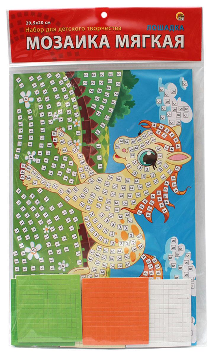 Рыжий Кот Мозаика мягкая Лошадка издательство рыжий кот мягкая мозаика попугай формат а5 21х15 см