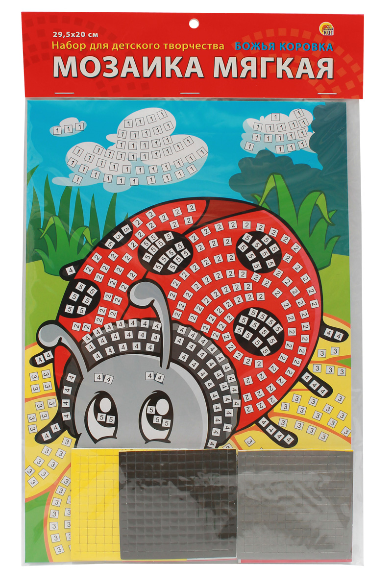 Рыжий Кот Мозаика мягкая Божья коровка рыжий кот мозаика мягкая птичка