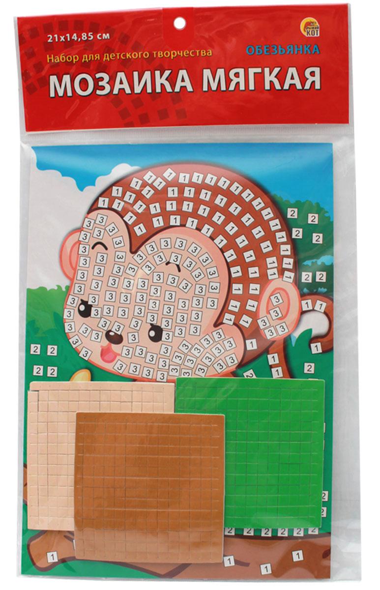 Рыжий Кот Мозаика мягкая Обезьянка рыжий кот мозаика мягкая птичка