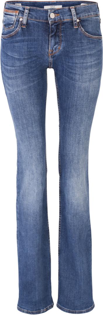 Джинсы женские Mustang Girls Oregon, цвет: синий. 3580-5828-065_5000-313. Размер 27-30 (42/44-30)3580-5828-065_5000-313Джинсы MUSTANG изготовлены из качественного материала на основе хлопка. Джинсы застегиваются на пуговицу в поясе и ширинку на застежке-молнии, дополнены шлевками для ремня. Спереди модель оформлена двумя втачными карманами и одним маленьким накладным, сзади - двумя накладными карманами. Изделие дополнено декоративными потертостями.
