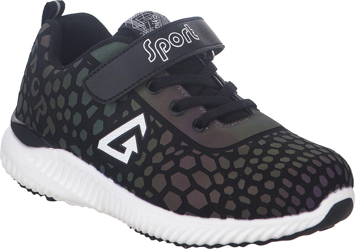 Кроссовки для мальчика Kapika, цвет: черный. 73333-1. Размер 3373333-1Стильные кроссовки от Kapika не оставят равнодушным вашего ребенка. Модель изготовлена из текстиля и искусственной кожи. Уплотнение на мыске защищает детскую стопу от ударов при движении. Ремешок с застежкой-липучкой и шнурки прочно зафиксируют обувь на ножке. Подкладка и стелька из текстиля гарантируют комфорт при носке. Гибкая и легкая подошва, выполненная из ТЭП-материала, с промежуточной подошвой из ЭВА долговечна и обеспечивает высокую устойчивость к деформациям. В такой обуви ножкам вашего ребенка всегда будет комфортно и уютно.