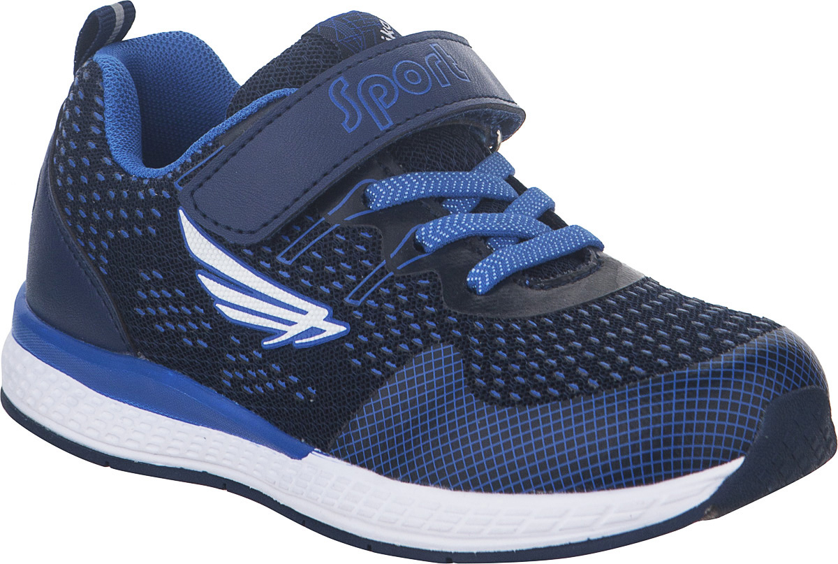 Кроссовки детские Kapika, цвет: темно-синий. 73330-1. Размер 3373330-1Стильные кроссовки от Kapika не оставят равнодушным вашего ребенка. Модель изготовлена из текстиля и искусственной кожи. Уплотнение на мыске защищает детскую стопу от ударов при движении. Ремешок с застежкой-липучкой и шнурки прочно зафиксируют обувь на ножке. Подкладка и стелька из текстиля гарантируют комфорт при носке. Гибкая и легкая подошва, выполненная из ТЭП-материала, с промежуточной подошвой из ЭВА долговечна и обеспечивает высокую устойчивость к деформациям. В такой обуви ножкам вашего ребенка всегда будет комфортно и уютно.
