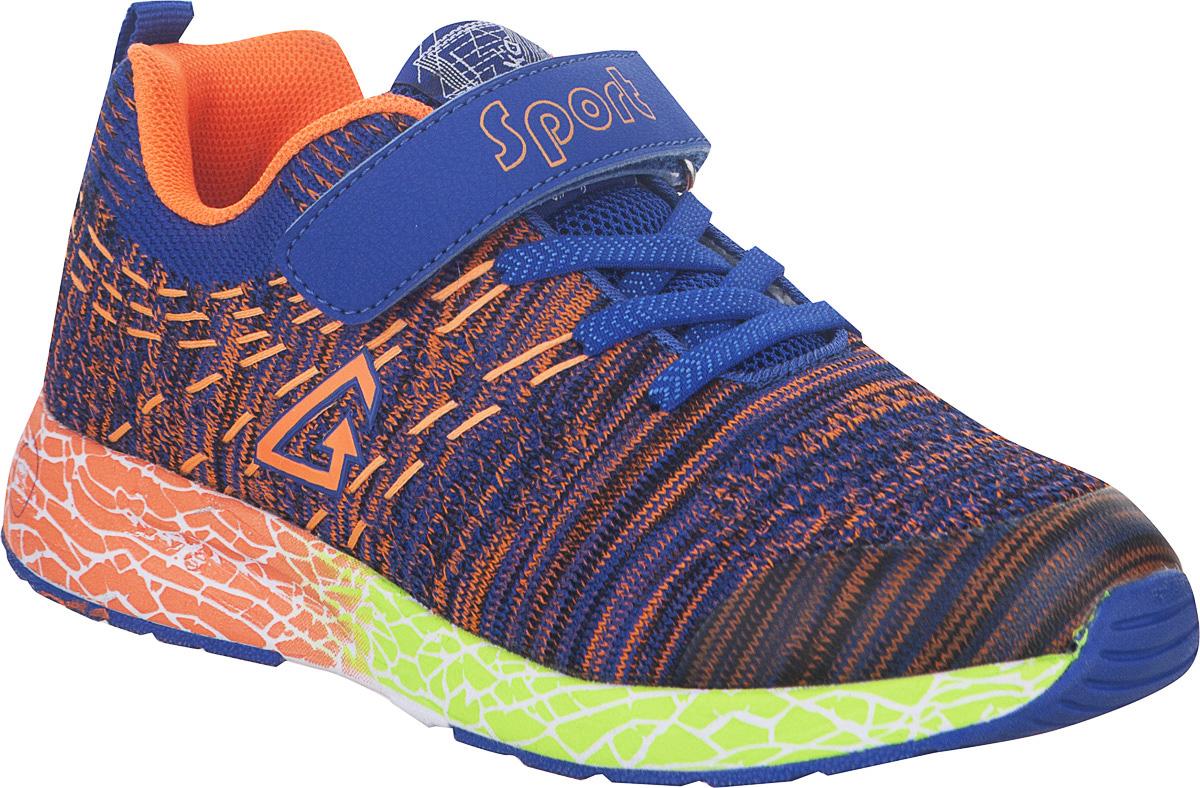 Кроссовки детские Kapika, цвет: синий. 73328-1. Размер 3473328-1Стильные кроссовки от Kapika не оставят равнодушным вашего ребенка. Модель изготовлена из текстиля и искусственной кожи. Уплотнение на мыске защищает детскую стопу от ударов при движении. Ремешок с застежкой-липучкой и шнурки прочно зафиксируют обувь на ножке. Подкладка и стелька из текстиля гарантируют комфорт при носке. Гибкая и легкая подошва, выполненная из ТЭП-материала, с промежуточной подошвой из ЭВА долговечна и обеспечивает высокую устойчивость к деформациям. В такой обуви ножкам вашего ребенка всегда будет комфортно и уютно.