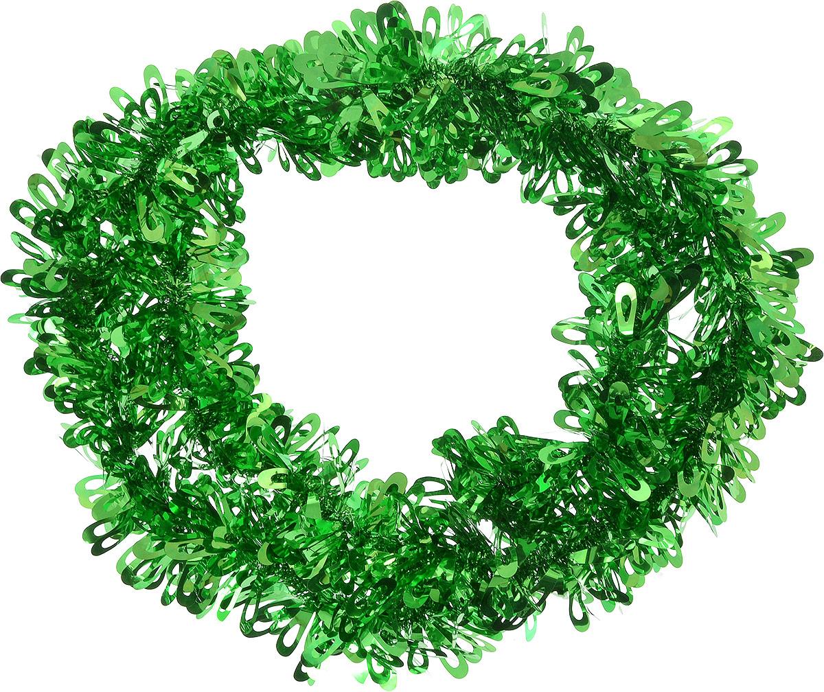 Мишура новогодняя Sima-land, цвет: зеленый, диаметр 9 см, длина 2 м. 452428452428Мишура новогодняя Sima-land, выполненная из фольги, поможет вам украсить свой дом к предстоящим праздникам. Мишура армирована, то есть имеет проволоку внутри и способна сохранять приданную ей форму.Новогодняя елка с таким украшением станет еще наряднее. Новогодней мишурой можно украсить все, что угодно - елку, квартиру, дачу, офис - как внутри, так и снаружи. Можно сложить новогодние поздравления, буквы и цифры, мишурой можно украсить и дополнить гирлянды, можно выделить дверные колонны, оплести дверные проемы.