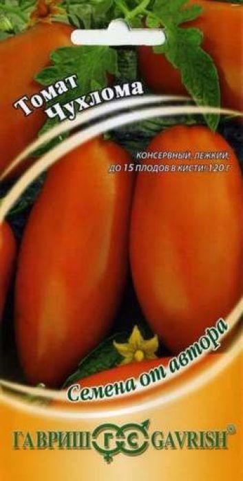 Семена Гавриш Томат. Чухлома4601431002791Среднеспелый (111-115 дней от всходов до плодоношения) сильнорослый (более 2,0 м) сорт, рекомендован для временных пленочных укрытий, а также пленочных необогреваемых теплиц. Посев на рассаду в марте. Пикировка в фазе первого настоящего листа. Высадка рассады в теплицы в начале-середине мая в возрасте 40 дней (если апрель теплый, то высадка рассады возможна в конце апреля). Формируют в один стебель, удаляя все пасынки. Плоды банановидной формы, ярко-оранжевой окраски, длиной 10-12, массой 110-120 г, отличаются повышенным содержанием каротина. В одной кисти формируется 12-15 плодов. Плоды прочно прикреплены, не осыпаются, способны храниться до 2-3 недель. Благодаря плотной мякоти и упругой кожице прекрасно подходят для цельноплодного консервирования. Схема посадки 40 х 60 см. Сорт устойчив к возбудителям вируса табачной мозаики, фузариоза, кладоспориоза. Урожайность одного растения 4,5-5,5 кг.Уважаемые клиенты! Обращаем ваше внимание на то, что упаковка может иметь несколько видов дизайна. Поставка осуществляется в зависимости от наличия на складе.