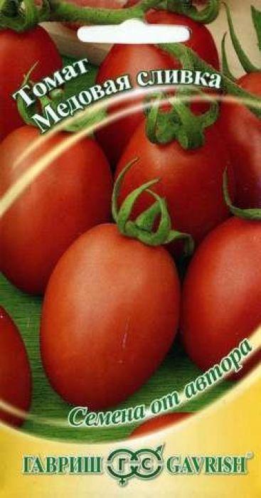 Семена Гавриш Томат. Медовая сливка4601431035515Скороспелый (от всходов до плодоношения 93-100 дней) низкорослый сорт для выращивания в открытом грунте и пленочных теплицах.Растение полураскидистое, среднеоблиственное, высотой до 60 см. Плоды сливовидной формы, гладкие, красные, очень прочные, 60-70 г, обладают гармоничным вкусом и ароматом.Рекомендуются для засолки, цельноплодного консервирования и приготовления свежих летних салатов. Посев на рассаду в марте - начале апреля. Пикировка рассады в фазе первого настоящего листа. Посадка рассады в грунт - начало - середина мая или конец мая - начало июня. Растение требует умеренного пасынкования.Гибрид устойчив к вертициллезу и фузариозу.Урожайность 4,2 кг/м2. Уважаемые клиенты! Обращаем ваше внимание на то, что упаковка может иметь несколько видов дизайна. Поставка осуществляется в зависимости от наличия на складе.